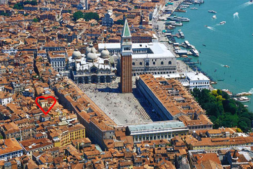 Hotel Royal San Marco Venice Location Venice Hotels Apartments - Venice san marco map